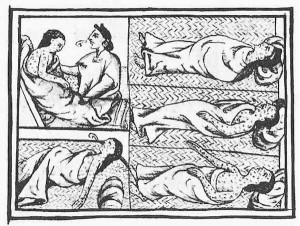 15th century drawing of Native Americans suffering from smallpox