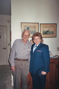 LtCol E. Barnard, USAF (Ret) with CPT K. Joltes, CT-ANG