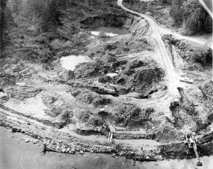 Money Pit during Dunfield Excavations (1950s)